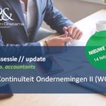 NIEUWE DATUM | Kennissessie | Update Wet Continuïteit Ondernemingen II (WCO II)