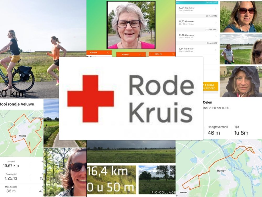 Sponsorloop medewerkers Benthem Gratama voor het Rode Kruis
